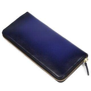 Raffaello 一流の革職人が作る 古代ローマの貴族が愛した革を手作業で染色したメンズラウンドファスナー長財布