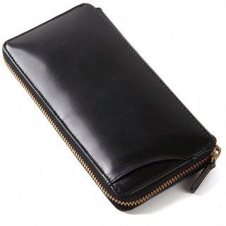 Raffaello 一流の革職人が作る 皮革の王様コードバンを彷彿とさせるロイヤルオイルドレザーで使用したパスケース付きラウンドファスナー長財布