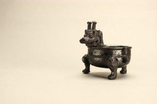 橋本一成 黒釉饕餮文酒杯 [ Kuro-yu Toutetsu-mon Shuhai by Kazunari Hashimoto ]