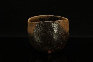 柳下季器 黒茶碗 [ Kuro Chawan by  Hideki Yanashita]