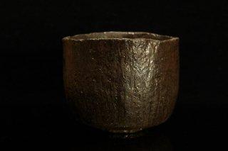 柳下季器 カセ黒茶碗 [ Kase-guro Chawan by Hideki Yanashita ]