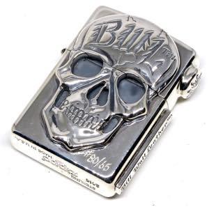 BillWallLeather  BWL  ビルウォールレザー  ZIPPO《送料無料》New Skull Zippo Sun Stamp Medallion on Flap Brand Skid P
