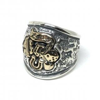 BillWallLeather  BWL  ビルウォールレザー  リング 《送料無料》 Graffiti Dome Ring insert top Brass(Lucky)