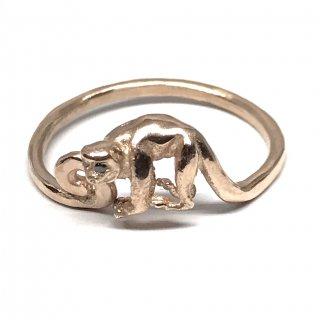 SILVERELLA シルバーエラ リング《送料無料》Lancelot monkey ring 14k rose gold with BKdia eyes set