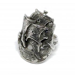 SILVERELLA シルバーエラ リング《送料無料》Spanish Galleon Ring w/5 Black Dia スパニッシュガレオンリングウィズ5ブラックダイア