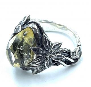 LYLY ERLANDSON リリーエルランドソン 正規代理店 リング《送料無料》the ARIA Ring 【Lemon Yellow】