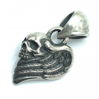Rat Raceラットレース 正規代理店 r.l.d ペンダント《送料無料》Wing Heart with Skull Top