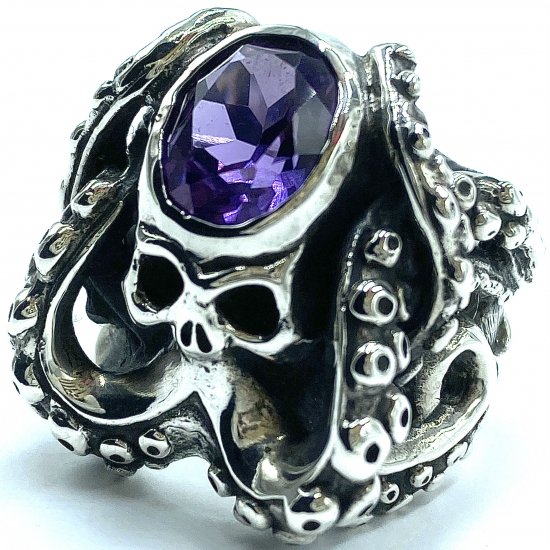 TRAVIS WALKER TW トラヴィスワーカー リング《送料無料》CTHULHU RING WITH STONE AMETHYST