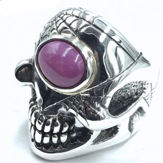 TRAVIS WALKER TW トラヴィスワーカー リング《送料無料》CYCLOPS RING WITH PINK STAR STONE AND SPIDER WEB ENGRAVE