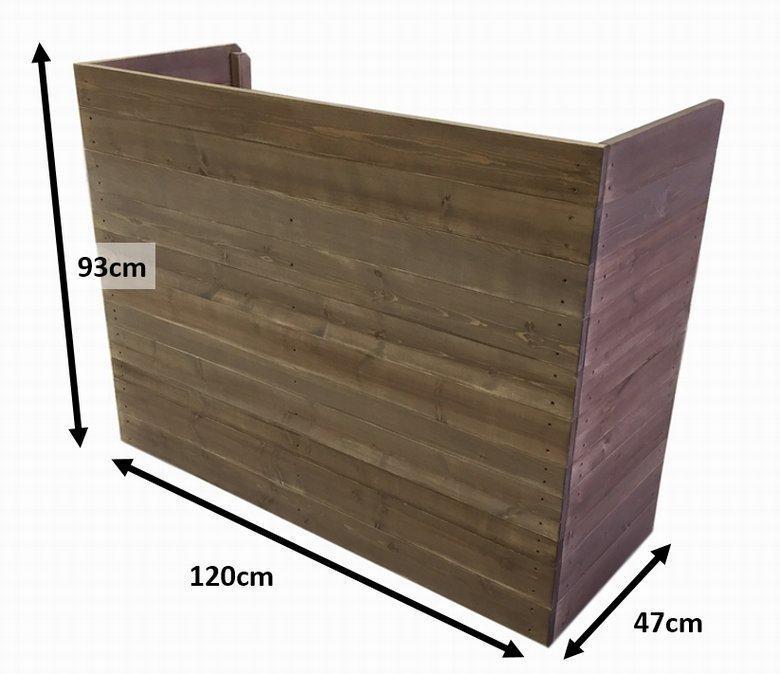 木製レジカウンター・受付カウンター_幅120cm×奥行47cm×高さ93cm_オールナット_C009WN