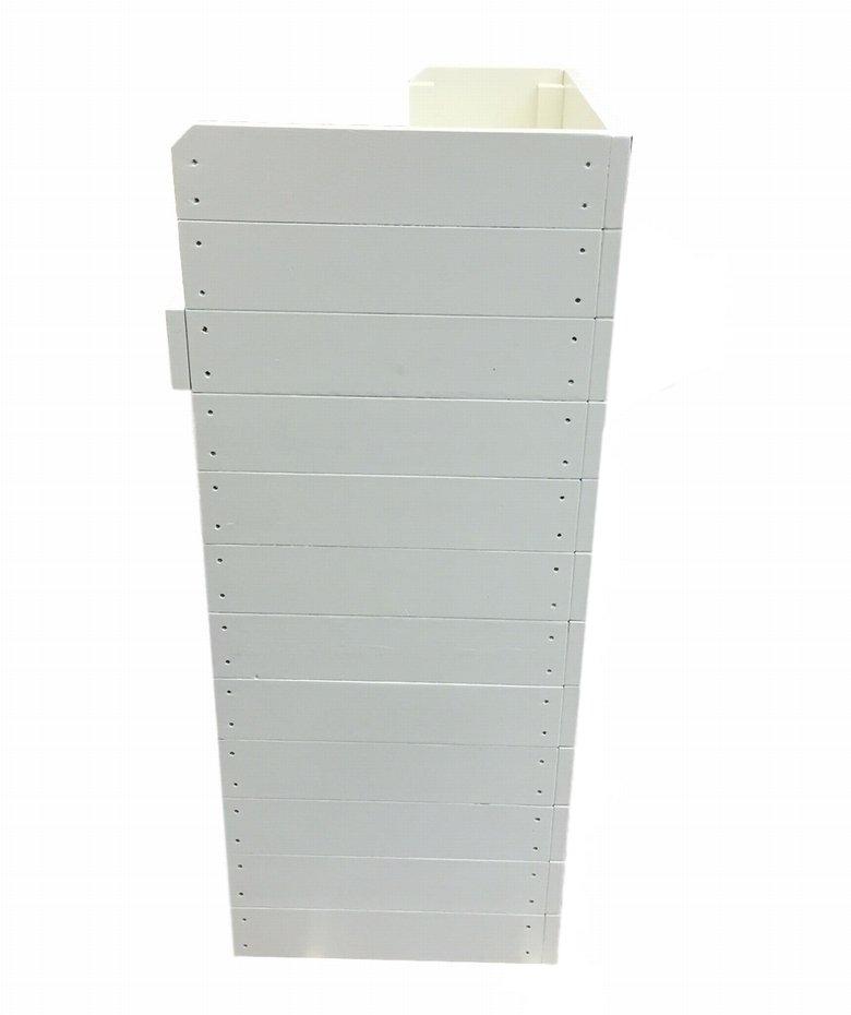 木製レジカウンター・受付カウンター_スリム_幅75cm×奥行45cm×高さ108cm_ミルキーホワイト+ニス_UN838MWH
