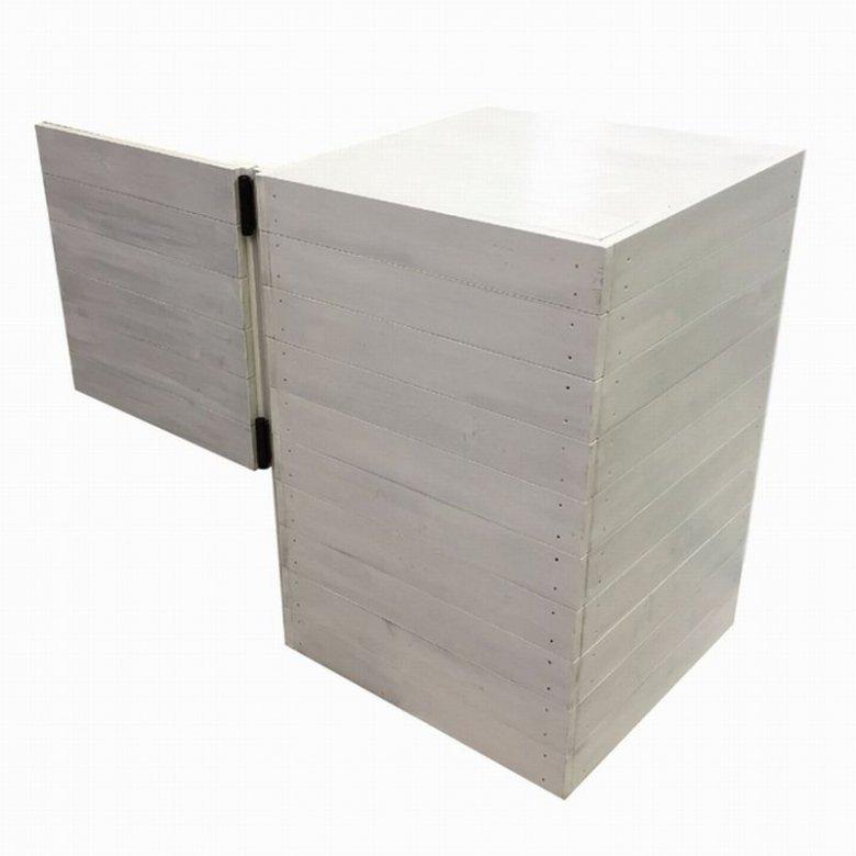 木製サイドボード_スイングドア付き_幅119cm×奥行60cm×高さ90cm_アンティークホワイト_UN817AWH