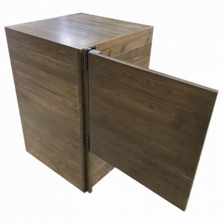 木製サイドボード_スイングドア付き_幅119cm×奥行60cm×高さ90cm_オールナット(ニス仕上げ)_UN816WN