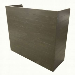 木製レジカウンター_受付カウンター_幅120cm×奥行45cm×高さ106cm_ブラックブラウン(ニス仕上げ)_C038BB