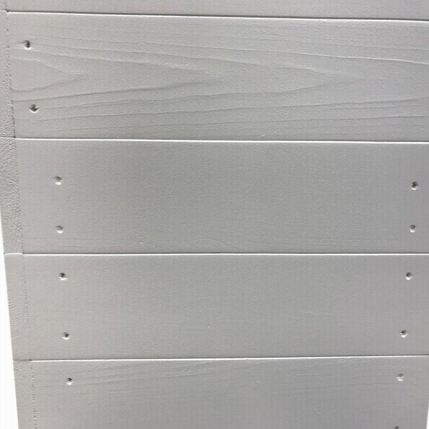 ハンドメイドレジカウンター・受付カウンター_上部天板付き_幅154cm×奥行60cm×高さ110cm_ミルキーホワイト+ニス仕上げ_C045MWH