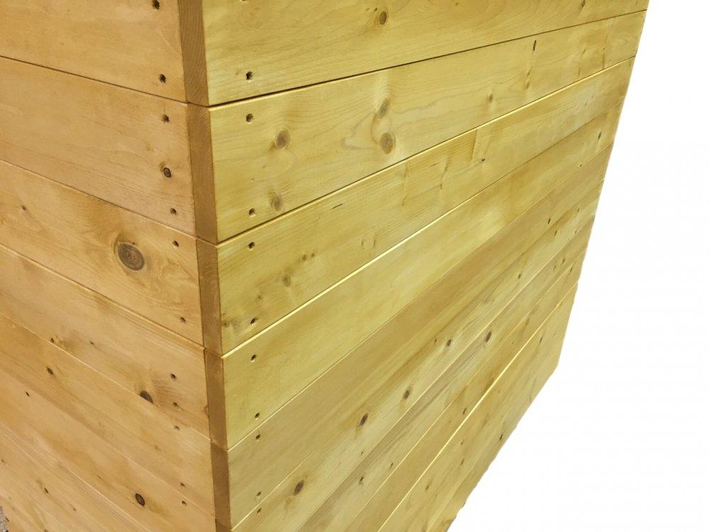木製レジカウンター・受付カウンター_幅120cm×奥行49cm×高さ100cm_ライトオーク_UN832LOK