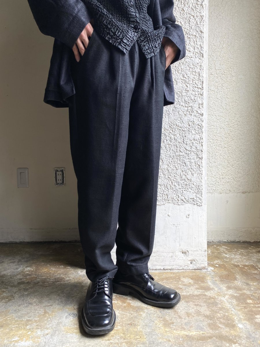 heavy black linen easy
