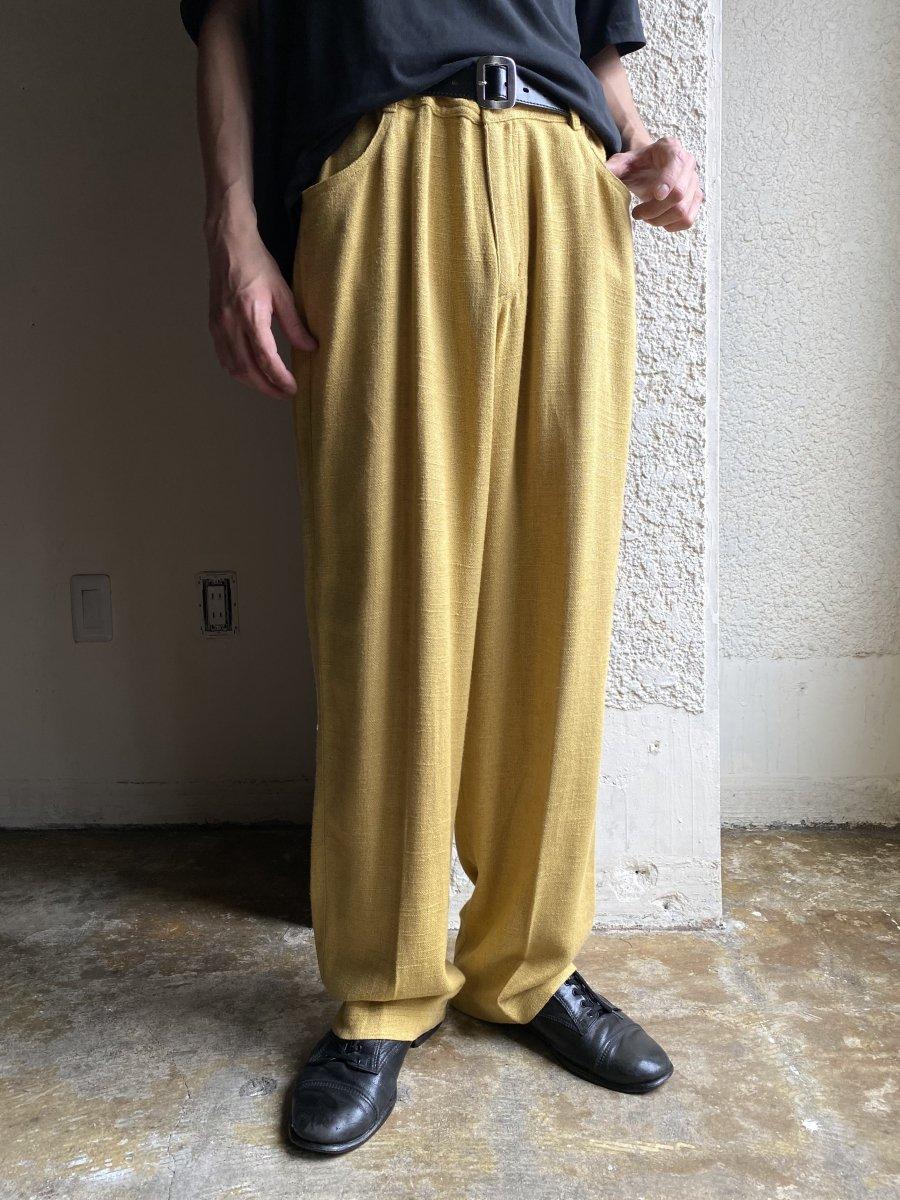 mustard slacks