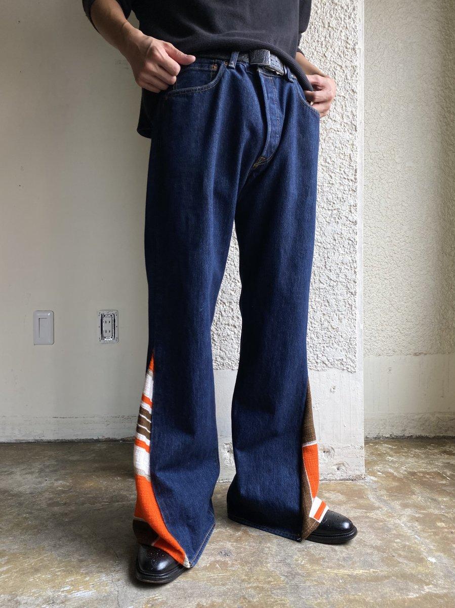 vintage fabric flared pants