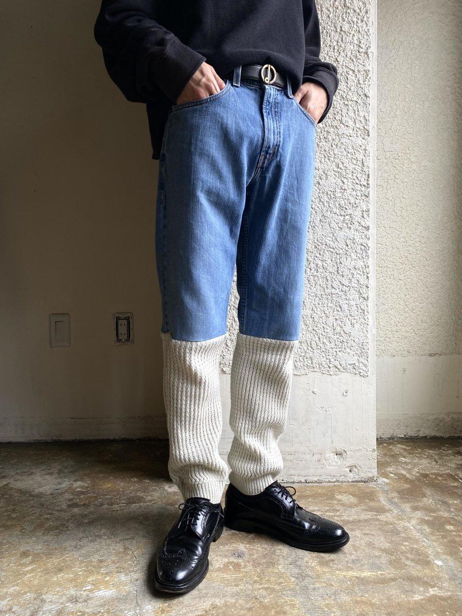 Slim Denim × Acrylic Knit