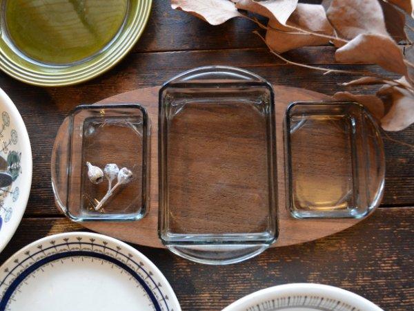 Glass tray Set <br>チークプレート付きガラストレイセット