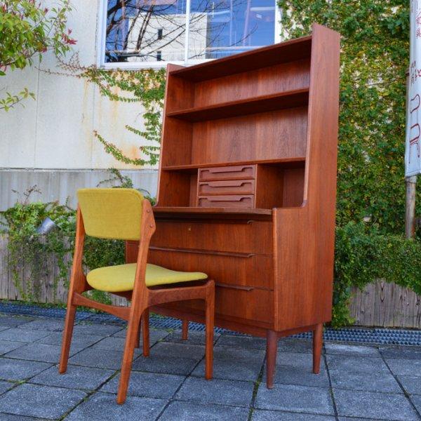 贅沢なチーク使い。細やかなディテール。高いクオリティ。素敵。Teak Bookcase Bureau