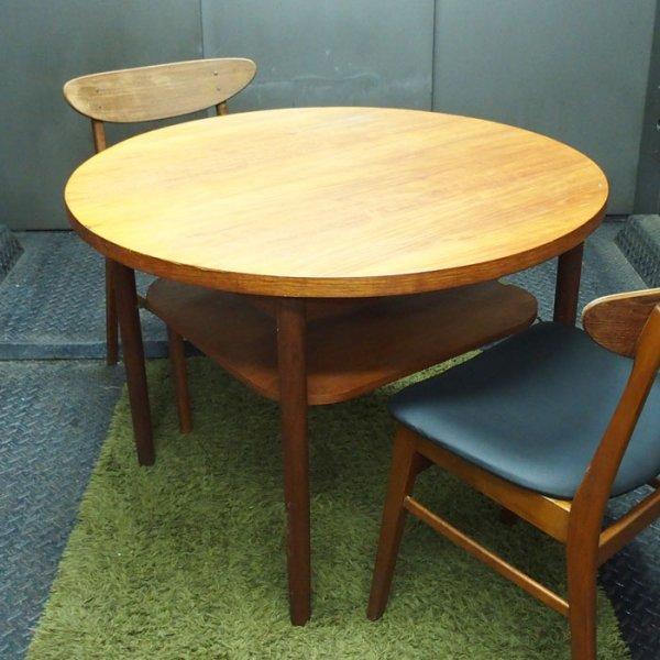 φ990 1人暮らしのワンルームにもおすすめできる小ぶりな丸テーブル Teak Round Dining Table