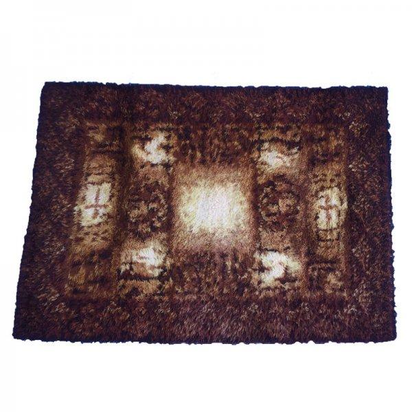スカンジナビアの伝統的な織りのマット。 Vintaged Rug From Denmark