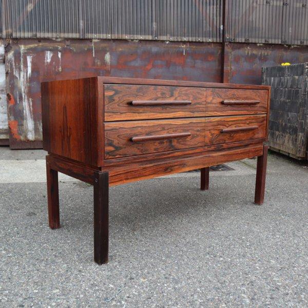 ローズウッドに魅せられる、ダブルドロワーのローボード。 Rosewood Low Board