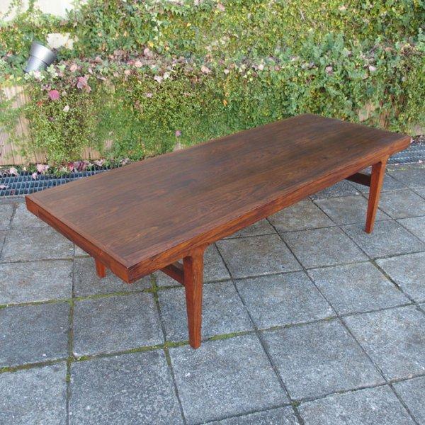 高さ425mmと日本の暮らしでも使いやすい!サイドテーブル付き! Rosewood Coffee Table