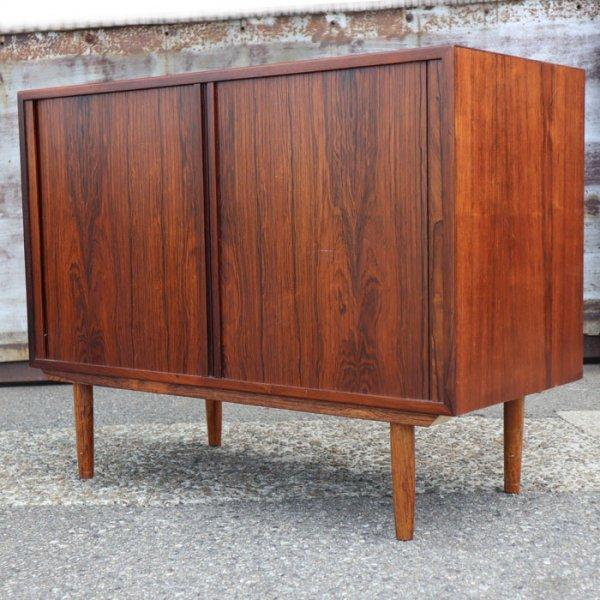意外性のある蛇腹扉!Danish Furniture makers Controlバッチ付。 Rosewood Cabinet