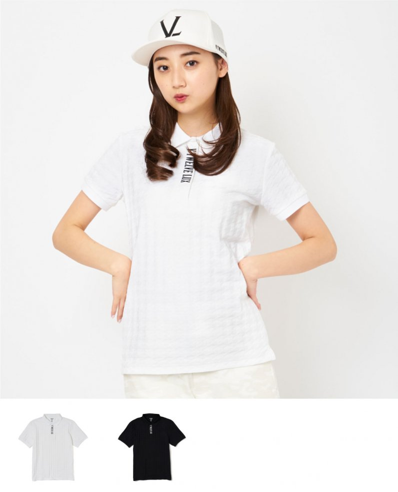LX HOUNDSTOOTH POLO_WM
