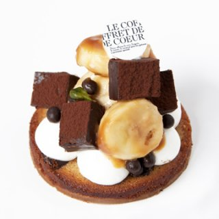 【LE COFFRET DE COEUR】ニューラインナップ2016 / チョコバナナタルト【店舗販売のみ】5/25〜