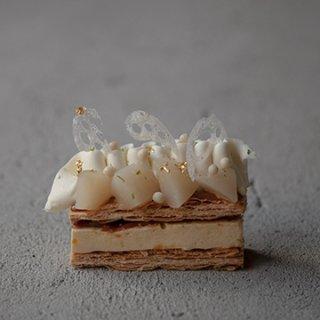2018SS新作 Blanc / 夏の雲の色彩 / スダチムースとクレムバニーユのミルフィーユ【店舗販売のみ】6/30〜