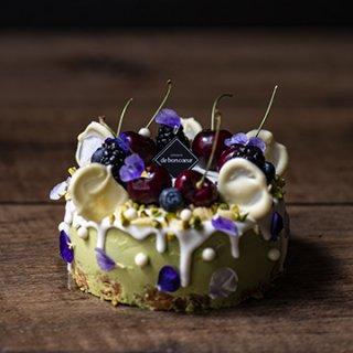 『patisserie de bon coeur - 武蔵小山本店』16周年記念限定ケーキ Berriolette chocolat pistache / ベリオレット ショコラ ピスターシュ