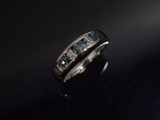 PT900 0.63ct 天然アレキサンドライト・ダイヤモンドリング