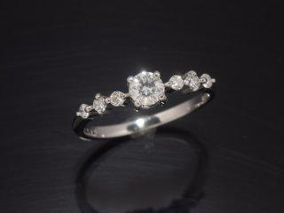 pt900 0.27ctダイヤモンドリング