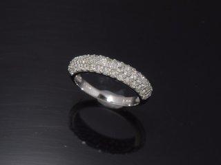 PT900 1.0ct ダイヤモンド パヴェリング