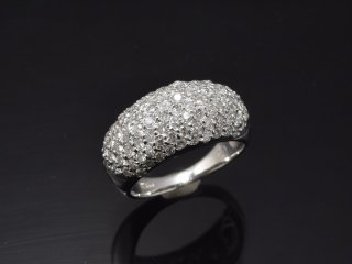PT900 1.5ct天然ダイヤモンドパヴェリング
