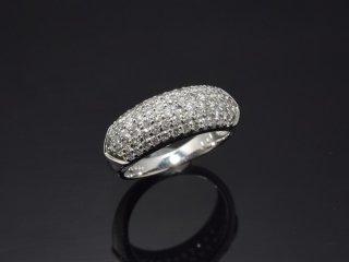 PT900 1.0ct天然ダイヤモンドパヴェリング