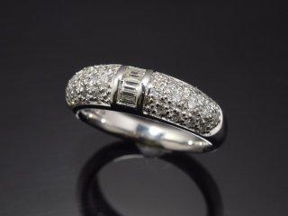 PT900 0.61ct天然ダイヤモンドパヴェリング