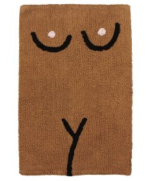 COLD PICNIC Torso Bathmat-Brown