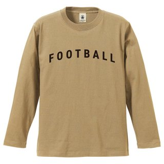 Football Typo. Long Sleeve - sand