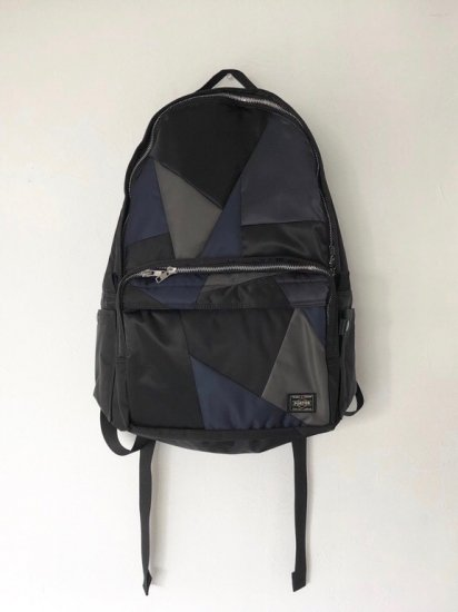 patch work nylon daypack