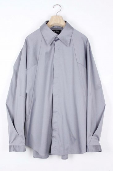 シェルスリーブシャツ/シルバーグレー