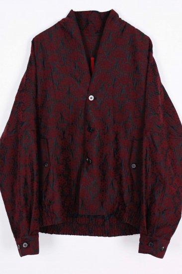 Persian Jacquard Silk Jacket / red