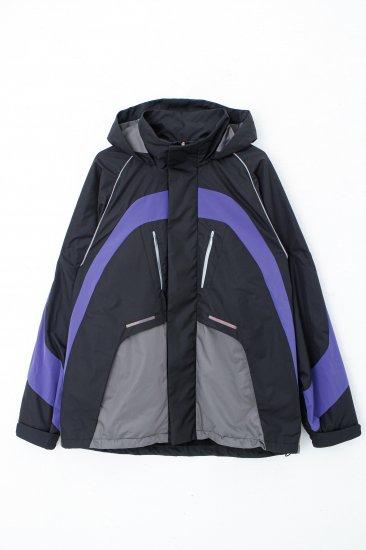 Y2Kジャケット/ブラック×スチールグレー