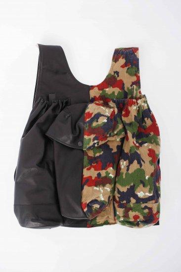 nir / cam twins backpack / left leather