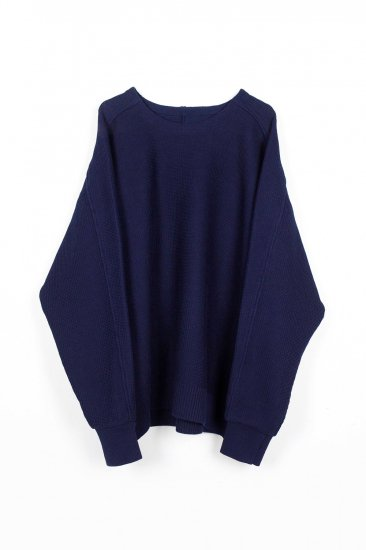 YANTOR / 10G Cotton Coarsely Knit / navy