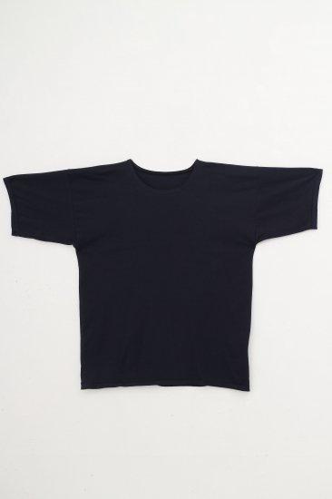 MITTAN / suvin半袖平面T / 紺